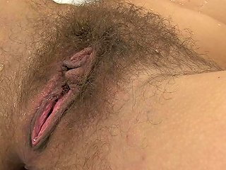 Nasty Girl With A Hairy Pussy Is Drinking Her Own Piss