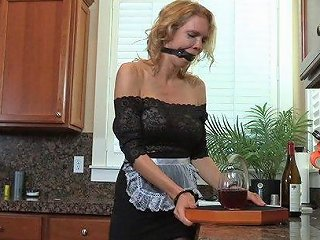 Hot Slut Gets Tied Up And Nailed Hard By A Horny Couple