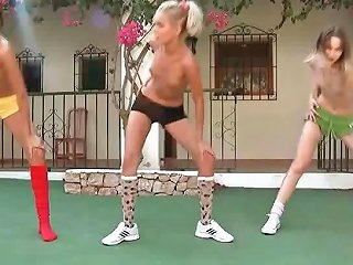 These Teens Are Doing Aerobics Naked In The Backyard On