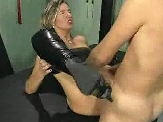 Horny Blonde In High Boots Gets Ass Fucked And Fisted