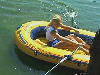 Adorable Barely Legal Teen Rubs One Out On A Raft Porn D9
