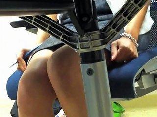 Candid Coworker Sexy Legs Lndian Goddess