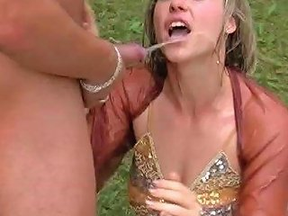 Outdoor Foursome With A Couple Of Dresses Sexy Women