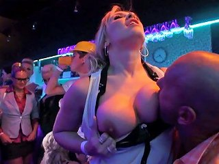 Several Filthy Chicks Gets In Time With Dudes Right On The Dance Floor