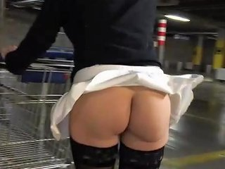 Upskirt And Flashing No Panties In A Parking Free Porn 66
