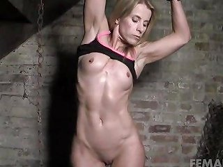 Mature Blonde Restrained And Groped In Dungeon Porn B6