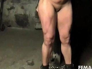 Naked Female Bodybuilder Struggles In Restraints Nuvid