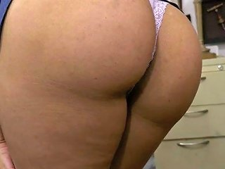 Curly Sexy Brunette Gets Plowed In The Pawn Shop