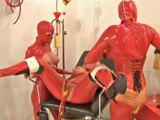 Matron In Red Rubber Double Balloon Catheter Pissparty Txxx Com