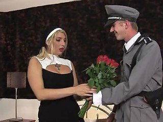Military Guy With A Big Cock Gives The Nun A Hardcore Penetration