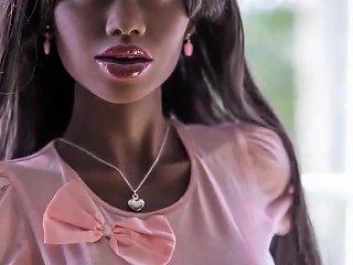 Sexy Ebony Sex Doll Blowjob Anal Creampie Fantasies