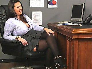 Uk Office Babe Instructs Sub Guy