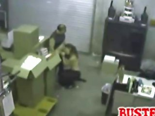 Horny Coworkers Get Busted On Security Cam Doing A Blowjob Nuvid