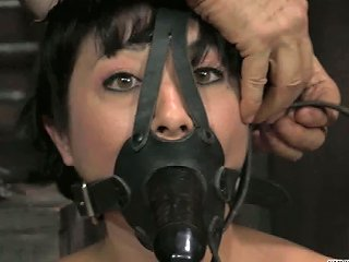 Dark Haired Nympho In Slave Mask Ties Up Red Haired Busty Bitch With Ropes