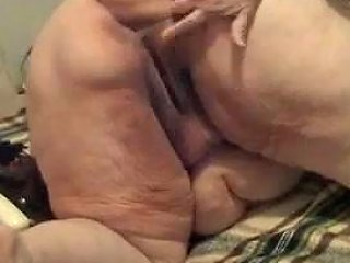 Extremely Awful Super Obese Webcam Mature Whore Was Masturbating With Toy