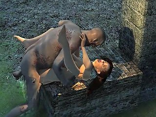 Busty 3d Cartoon Babe Getting Fucked Hard By A Zombie
