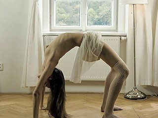 Skinny Ballerina Strips Down And Practices Her Moves In T Any Porn