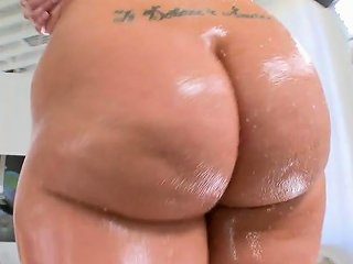 Kelly Divine Slut With Dyed Red Hair Gets Her Big Oiled Up Butt Fucked