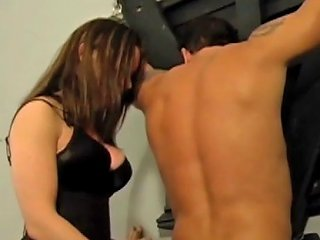 Two Dommes Breaking In His New Slave