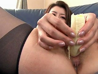 Kinky Whore Gets A Variety Of Vegetables Puts In Her Tight Pussy