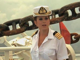 Cindy Dollar Is A Nasty Babe Fucked On A Deck By Two Sailors