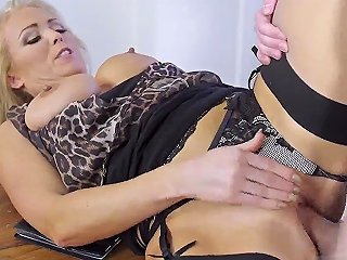 Teens Fuck In Hotel Room And MILF Kitchen Table Masturbate Having Her Way With A Rookie