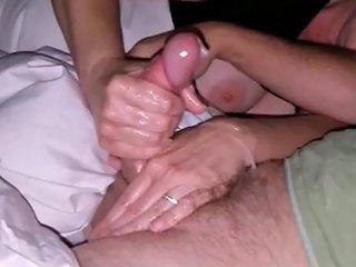 Edging Handjob With Pre Cum Dripping And Cumshot