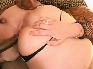 Redhead Bbw Interracial Sex Scene With Anal Creampie
