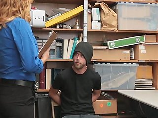 Thief Pleasing Horny Big Tit Security Guard