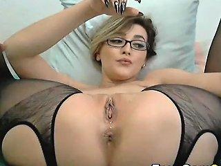 Hot Babe Drooling Wet Pussy Masturbation Drtuber
