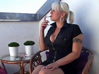 Sensual Smoking Balcony