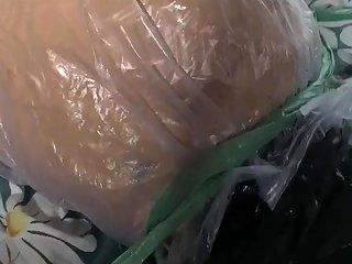 Mummification Breathplay With Plastic Bag