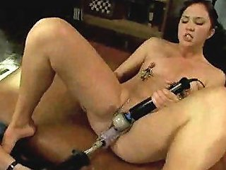 Clamped Nipples Kiki Koi Drill Fucked And Pussy Vibrated