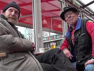 Real Whore Fucks Old Man