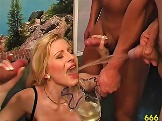 Piss Drinking Slut Gets Goldenshower In Watersports Gangbang Drtuber