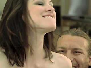 Two Guys Ravage Stoya's Mouth And Pussy In A Hot Threesome