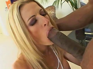 Business Women Lauren Kain Takes A Huge Black Cock Up Her Shaved Pussy
