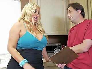 Hot Busty Blond Karen Fisher Gets Her Fat Pussy Fucked By A Big Dick Big Booty And Big Boobs