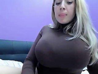 Blonde Skank Has Ball Boobs