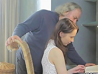 Kissable Schoolgirl Is Seduced And Banged By Her Aged Schoolteacher