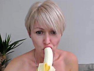Blonde Milf Banana Masturbation Cam Nuvid