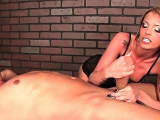 Cbt Masseuse Dominates Her Clients Cock Drtuber