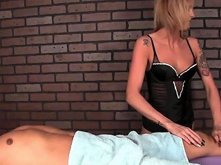Cbt Masseuse Dominates Her Clients Cock