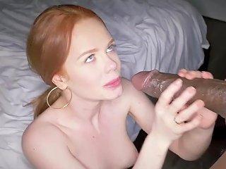 Readhead Big Pussy Lips Slut Ella Hughes Swallows Creamy Thick Cum From Bbc
