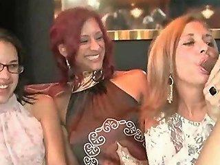 Busty Babes Sucking Stripper Cocks At The Stripclub