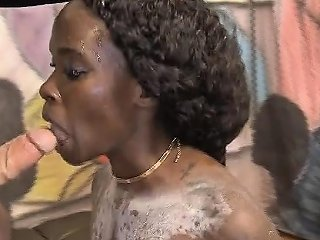 Black Ghetto Whore Getting Spit On And Roughly Face Fucked Drtuber
