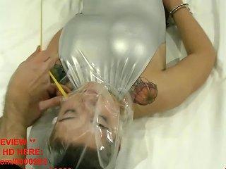 Eva Strangle And Bag Breathplay In Silver Pvc