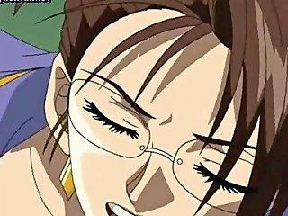 Anime Techer Licking A Cock