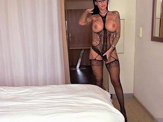 German Big Tits Femdom Milf Fucks Guy With Strapon Until Cumshot