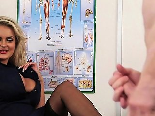 English Voyeur Nurse Instructing Guy To Tug Nuvid